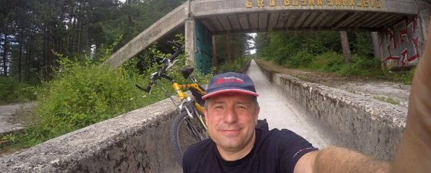 Cycling the Sarajevo Olympic bobsled track